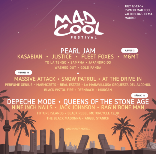 cartel x días / Mad Cool 2018